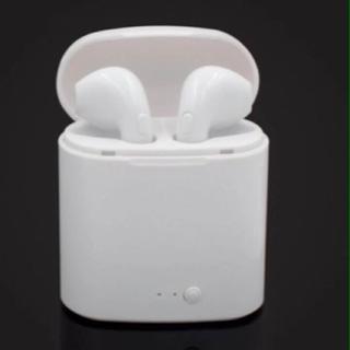 Bluetoothイヤホン ブルートゥース 白(ヘッドフォン/イヤフォン)