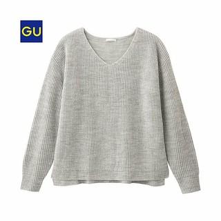 ジーユー(GU)のGU ジーユー Vネック ニット トップス(ニット/セーター)