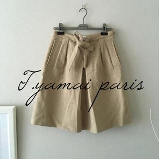 ティヤマイパリ(t.yamai paris)のT.yamai paris ウール×アンゴラ混スカート(ひざ丈スカート)