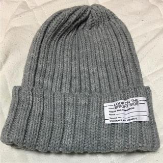 ジーユー(GU)の新品未使用品 GU ニット帽 グレー(ニット帽/ビーニー)