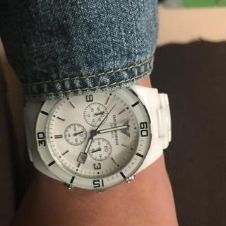 エンポリオアルマーニ(Emporio Armani)のエンポリオアルマーニ AR-1424 白 美品 レオン(腕時計(アナログ))