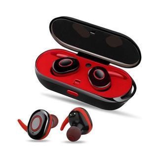 PZX Bluetooth イヤホン 高音質 充電収納ボックス 片耳 両耳(ヘッドフォン/イヤフォン)