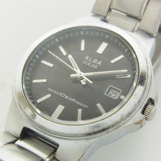 アルバ(ALBA)のセイコー アルバ メンズ ソーラー デイト 腕時計 クォーツ ウォッチ 新品電池(腕時計(アナログ))