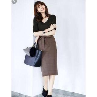 ジーユー(GU)のグレンチェック スカート(ひざ丈スカート)