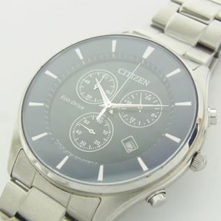 シチズン(CITIZEN)のシチズン 美品 エコドライブ クロノグラフ ソーラー デイト 腕時計 ウォッチ(腕時計(アナログ))