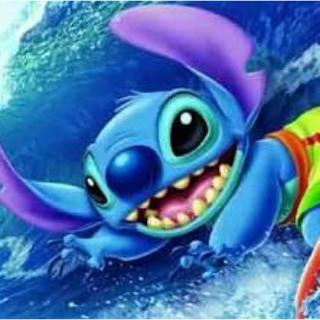 ディズニー(Disney)の【ディズニー】ステンドアートジグソーパズル ビッグ・ウェイブ! (スティッチ)(キャラクターグッズ)