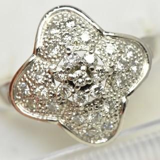 Pt900 合計 0.34ct ダイヤモンド リング 13号 指輪  (リング(指輪))