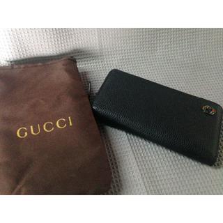 グッチ(Gucci)のグッチ 本革 黒 長財布 1:1 高品質(長財布)