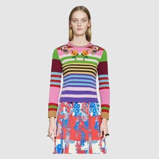 グッチ(Gucci)のGUCCI フラワー刺繍ニット(ニット/セーター)
