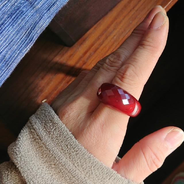 瑪瑙の指輪 レディースのアクセサリー(リング(指輪))の商品写真
