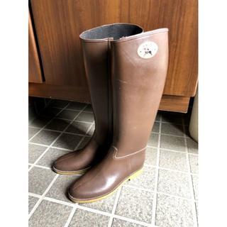 ダフナブーツ(Dafna Boots)のダフナ レインブーツ ファスナー有 ブラウン 22.5~23.5(レインブーツ/長靴)