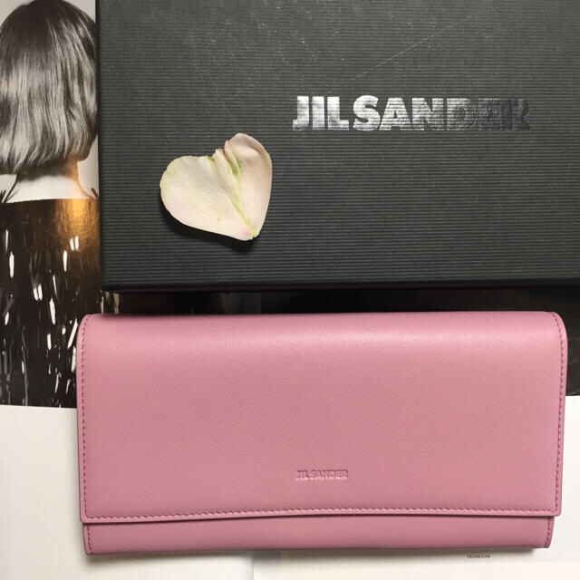 Jil Sander(ジルサンダー)のジルサンダー ラベンダーピンク 長財布 レディースのファッション小物(財布)の商品写真