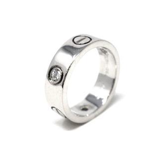 カルティエ(Cartier)の【もぐもぐ★様専用】 ラブリング ハーフダイヤ 750WG #50(リング(指輪))