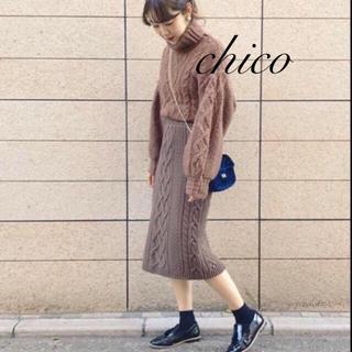 who's who Chico - 残2枚❗️フーズフーチコ♡ケーブルニットスカート