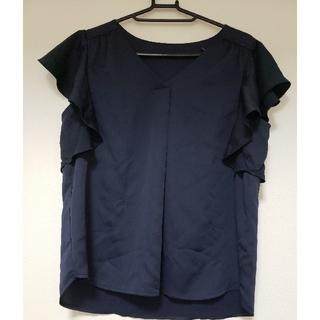ジーユー(GU)のネイビーのシャツ(シャツ/ブラウス(半袖/袖なし))