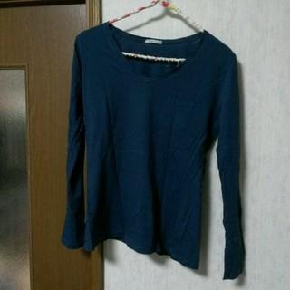 ジーユー(GU)のVネック Tシャツ(Tシャツ(長袖/七分))