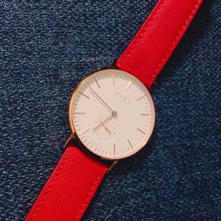 ノット(KNOT)の【na様専用】knot 金縁 赤ベルト (腕時計)