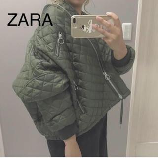 ザラ(ZARA)の完売品!ZARA キルティングジャケット カーキ (ミリタリージャケット)