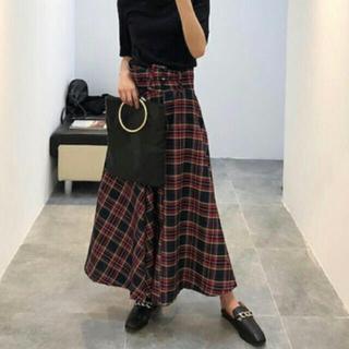 ZARA - ザラ チェック柄 ベルト付 スカート