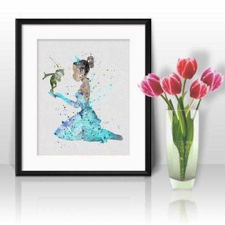 Disney - ティアナ(プリンセスと魔法のキス)アートポスター【額縁つき・送料無料!】