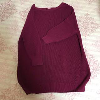 GU - GU ニット 紫 編み
