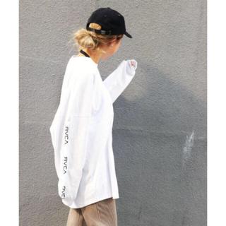 ルーカ(RVCA)の新品 RVCA TAPE LS Lサイズ ホワイト ルーカ ロンTシャツ 完売 (Tシャツ/カットソー(七分/長袖))