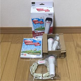 ウィー(Wii)の【任天堂 Wii】カラオケ JOYSOUND ソフト・マイク2本セット(家庭用ゲームソフト)