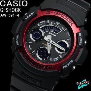 カシオ(CASIO)のカシオ時計☆レッドファッション!!アナ・デジ ブラック登場☆(腕時計(デジタル))