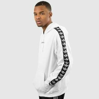 adidas - アディダス パーカー 白 ホワイト ロゴ テープ adidas hoodie