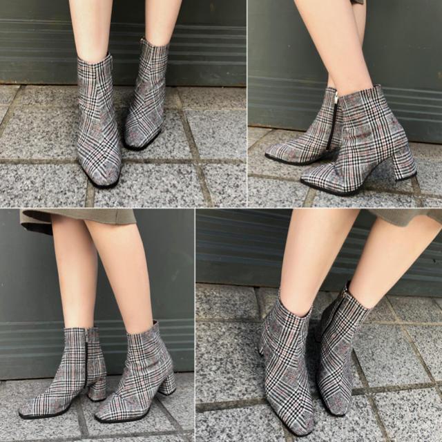 レザー調アンクルブーツ レディースの靴/シューズ(ブーツ)の商品写真