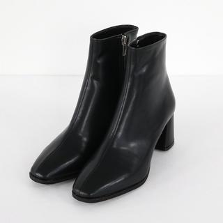 レザー調アンクルブーツ(ブーツ)