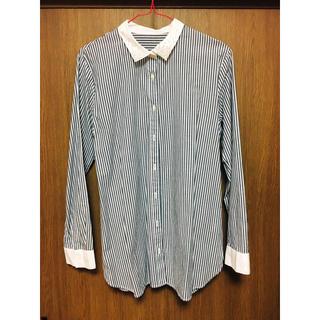 GU - 【GU】ブルー ストライプシャツ