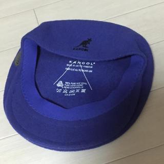 KANGOL - 《美品・レア》KANGOL/カンゴール ウール ハンチング イギリス製 ブルー