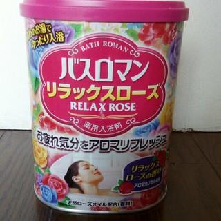 バスロマン リラックスローズの香り バラ220g (入浴剤/バスソルト)