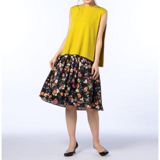 ノリーズ(NORIES)の新品 定価17,280円 ノリーズ フレアスカート  サイズ36、38(ひざ丈スカート)
