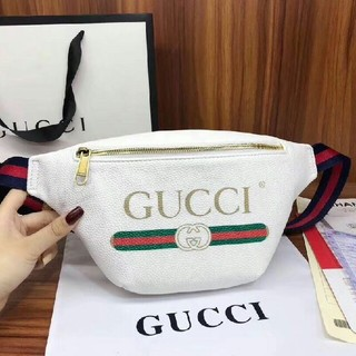 Gucci - GUCCI グッチ プリントレザーベルトバッグ ウエストバック