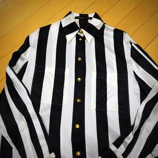 バルマン(BALMAIN)のBALMAIN × H&M サテン ストライプシャツ(シャツ)