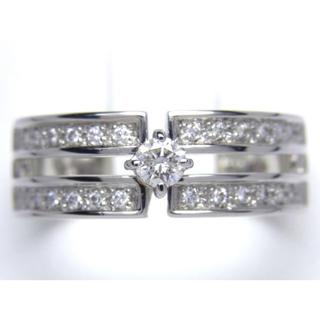 プラチナ 0.28ct ダイヤモンド リング(リング(指輪))