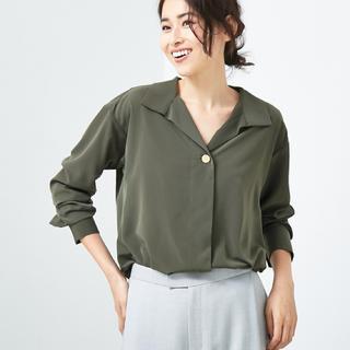 アバハウスドゥヴィネット(Abahouse Devinette)のAbahouse Devinette スタンドカラーシャツ ¥19,440(シャツ/ブラウス(長袖/七分))