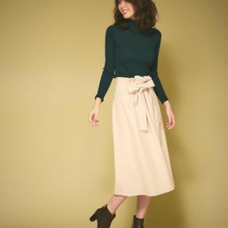 アバハウスドゥヴィネット(Abahouse Devinette)のAbahouse Devinette フロントギャザーウールスカート(ひざ丈スカート)