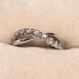プラチナ天然ダイヤモンドリング P t 900 0.40刻印にて(リング(指輪))