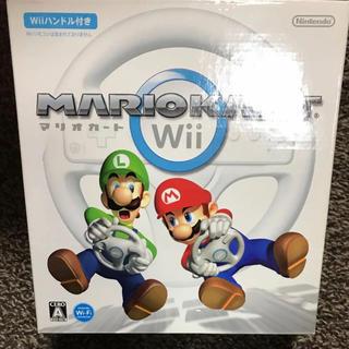 ウィー(Wii)のマリオカートWii ハンドルのみ ほぼ未使用(家庭用ゲームソフト)