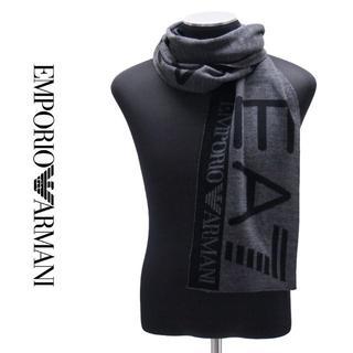 エンポリオアルマーニ(Emporio Armani)の1EMPORIO ARMANIブラック ロゴ マフラー(マフラー)