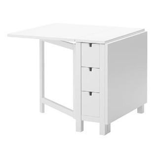IKEA - IKEA NORDEN ゲートレッグテーブル ホワイト