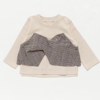 petit main - 新品♡petit main チェックビスチェドッキングTシャツ 100
