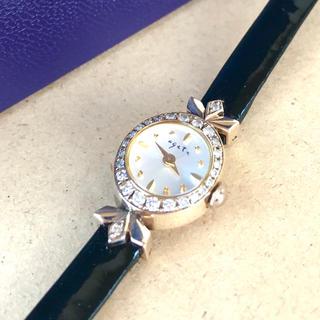 アガット(agete)のレア入手困難ageteダイヤ腕時計(腕時計)