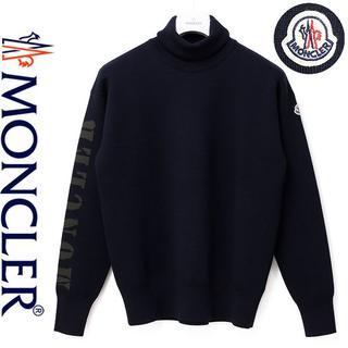 モンクレール(MONCLER)の6MONCLER 17-18AWネイビーハイゲージウール混ハイネック(ニット/セーター)