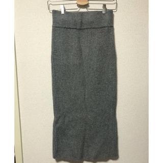 アンダーバーロウ(UNDER BAR RAW.)のニットスカート(ロングスカート)