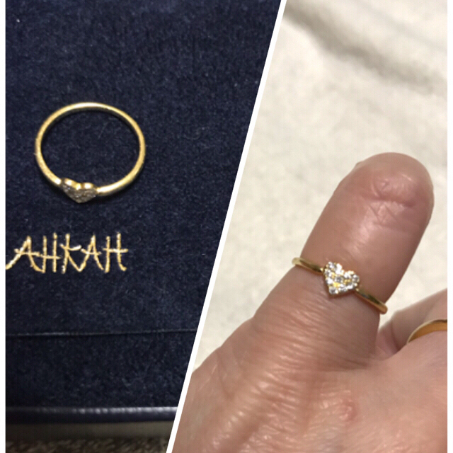 AHKAH(アーカー)のアーカー ハートパヴェ ピンキーリング レディースのアクセサリー(リング(指輪))の商品写真