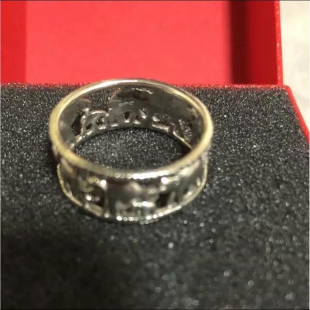 美品☆像モチーフ☆silver925☆幅広リング20号 レディースのアクセサリー(リング(指輪))の商品写真